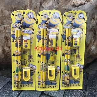 Stationery set Minion (Min 30 sets mixed)