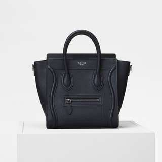 Celine luggage bag in black nano size