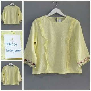 Yellow embroidery top