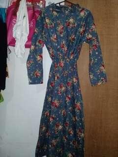 Maxi dress katun jepang busui