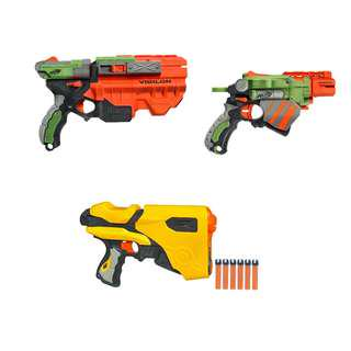 Nerf Guns with darts and discs