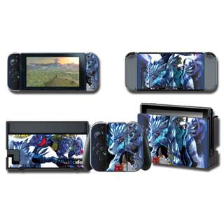 Nintendo Switch Decal Skin Digimon Garurumon
