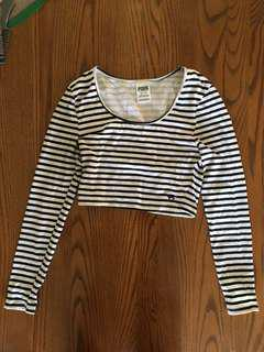 XS striped crop top from PINK