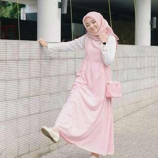 MF - 0418 - Dress Gamis Busana Muslim Wanita Kinda Maxi