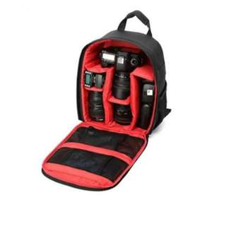 CAMERA BACKPACK BAG FOR DSLR CAMERA LENS AND ACCESSORIES (RED)