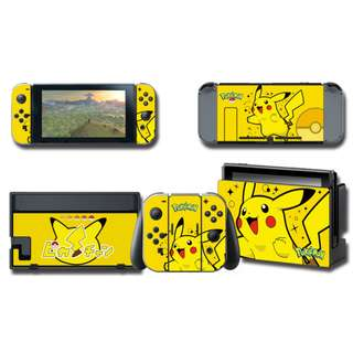 Nintendo Switch Decal Skin Pikachu Yellow