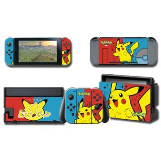 Nintendo Switch Decal Skin Pikachu Red Blue