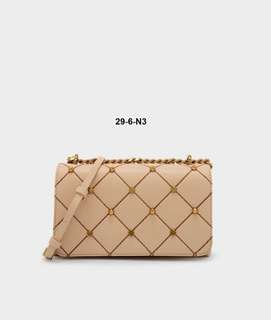 Charles & Keith Embellished Quilted Crossbody