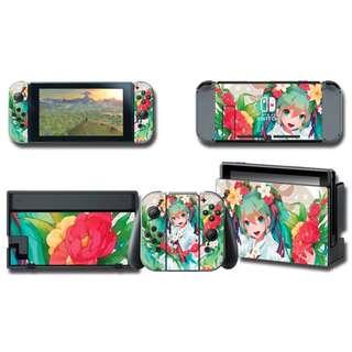 Nintendo Swtich Decal Skin Hatsune Miku Flowery