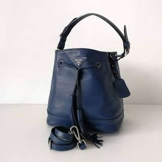 Prada Full Leather Hobo Bag