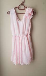 Silky Baby Pink Cocktail Dress