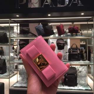 Prada card holder in pink