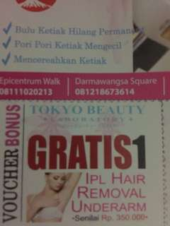 Voucher ipl tokyo beauty laboratory
