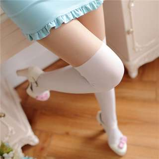 White Overknee Socks Tights