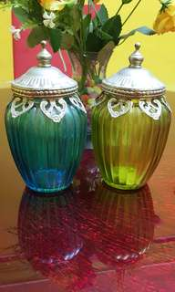 Antique  turkey deco glass bottles