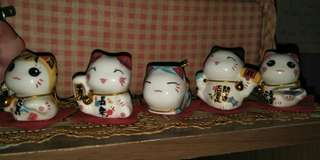 💯👍 1 SET OF 5 FORTUNE CAT