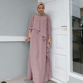 MF - 0418 - Dress Gamis Busana Muslim Wanita Byan Maxi