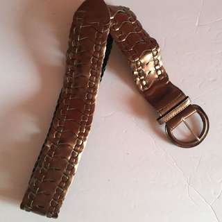 Brown Thick Belt Size S/M