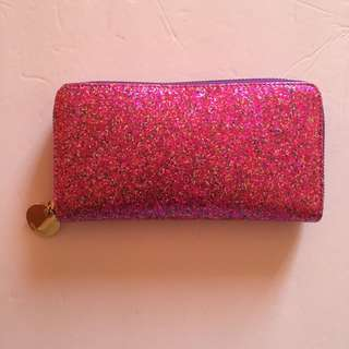 Large Pink Sparkly Wallet