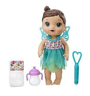 BN Baby Alive Face Paint Fairy Interactive Doll Toy Set with Accessories (Brunette)