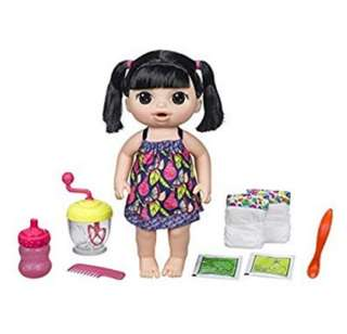 BN Baby Alive Sweet Spoonfuls Baby Interactive Doll Set with Accessories (Asian)