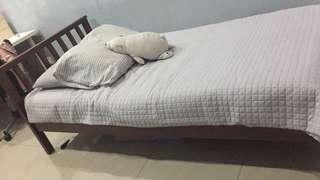 Solid Wooden Super Single Bed Frame