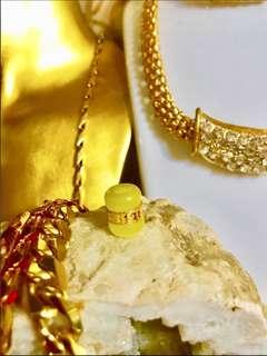 Mata kucing kuning disalut emas 999.9 tulen