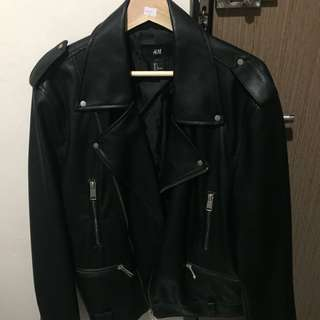 Jaket kulit Hnm