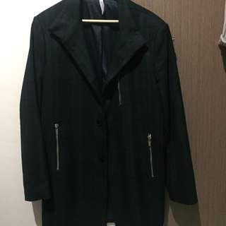 Coat flannel zara man