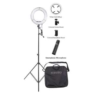 "13"" Fodoto Diva Ring Light Kit + Wireless Smartphone Microphone"