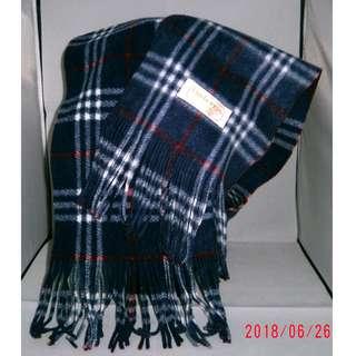 Burberrys Blue Plaid Neck Warmer