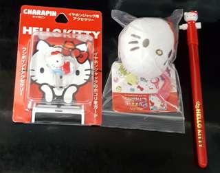 Sanrio Kitty Kt 12+14+17' =@$35/3件 (全新, 不散賣, 企得穩頭形公仔高5cm)
