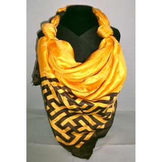 Mustard/Gold with Brown Big Scarf