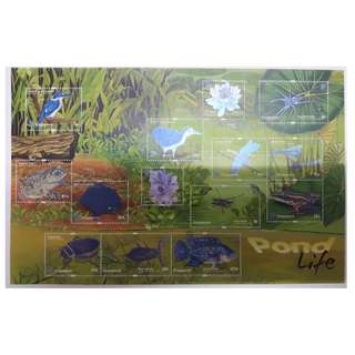 2011 SINGAPORE DEFINITIVE STAMP SHEET - POND LIFE