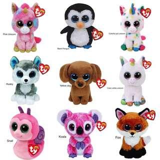 "15CM Elephant and Monkey Plush Doll Toys for Girl Rabbit Fox Cute Animal Owl Unicorn Cat Ladybug With Tag 6"" 15cm"