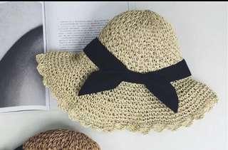 🚚 韓版#米色#米色#百搭可折疊小清新草帽