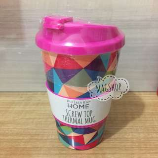 Primark Screw Top Thermal Mug - 150rb  Suitable for microwave