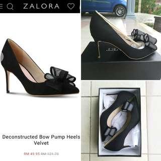 Bow Pump Heels by Velvet
