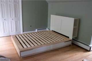 Ikea Brimnes Headboard and bedframe