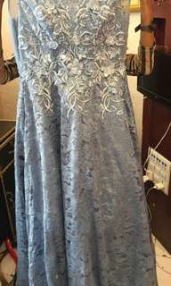 Greyish tone gown