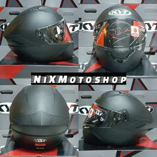 KYT NFR Plain Matt Black Fullface