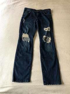 Zara Boyfriend Navy Blue Jeans