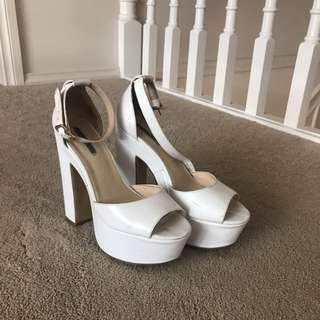 Windsor Smith White Heels