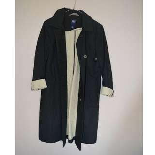 GAP black trench coat