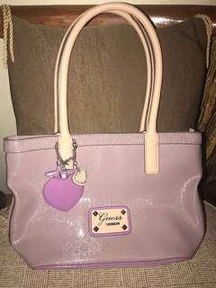 GUESS HANDBAG PURPLE