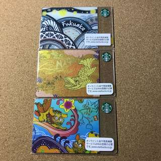 🚚 Japan Starbucks City Card Old Version (Nagoya, Fukuoka, Okinawa)