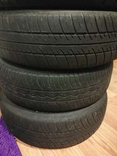 Used tyres R12 including rims