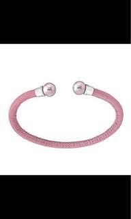 MAJORICA pink leather pearl bangle (authentic) not Pandora Mikimoto