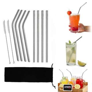 Family Bundle: 8 Stainless Steel Straws