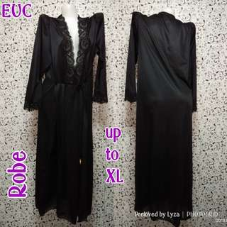 Black Silk Robe